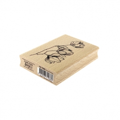 Tampon bois FLEURS EN BOUTONS