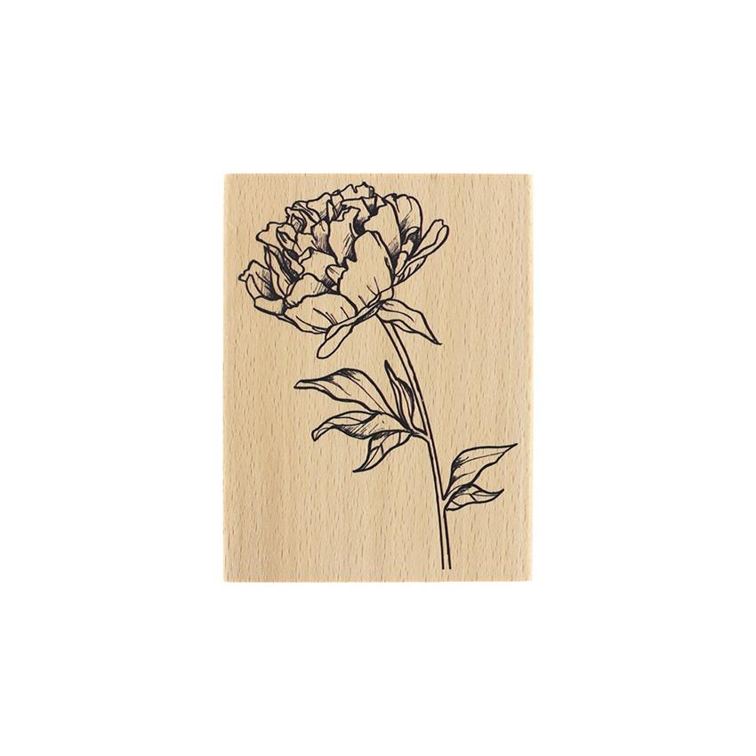 Tampon bois FLEUR À BOUQUET par Florilèges Design. Scrapbooking et loisirs créatifs. Livraison rapide et cadeau dans chaque c...