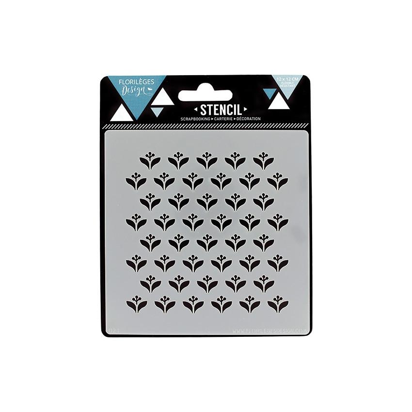 Pochoir TOUCHE SCANDINAVE par Florilèges Design. Scrapbooking et loisirs créatifs. Livraison rapide et cadeau dans chaque com...