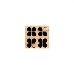 Tampon bois QUATRO par Florilèges Design. Scrapbooking et loisirs créatifs. Livraison rapide et cadeau dans chaque commande.