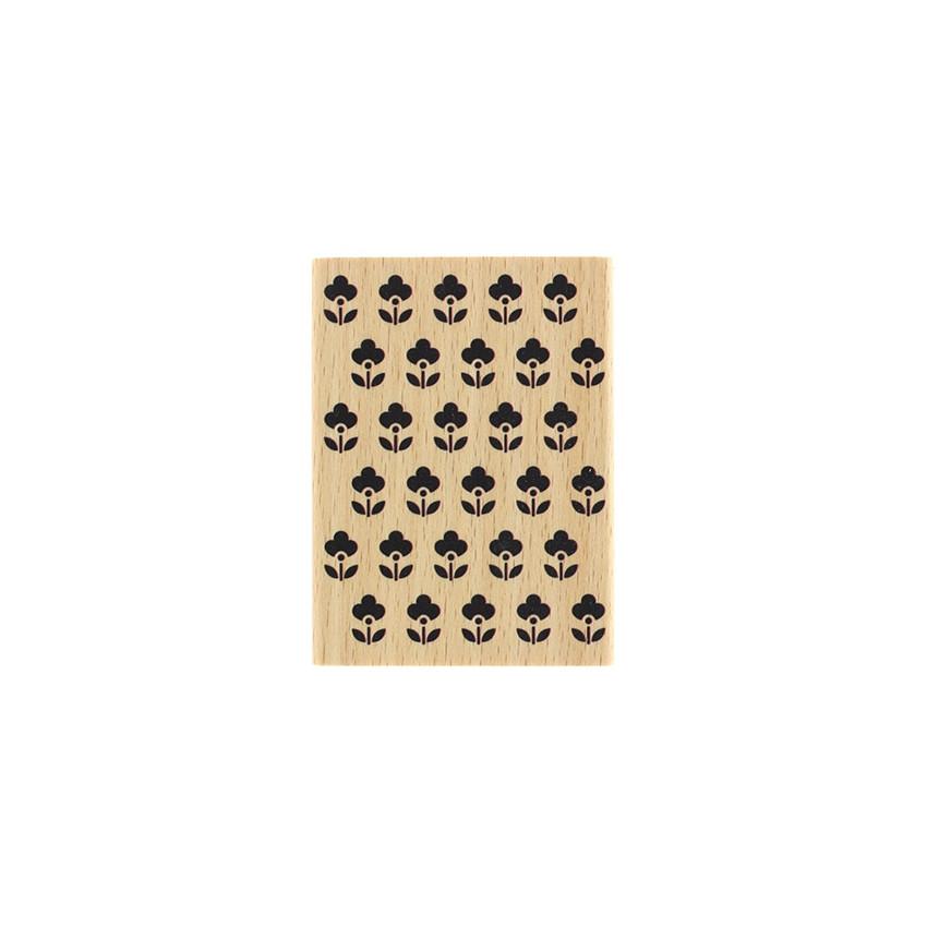 PROMO de -60% sur Tampon bois PETITES FLEURETTES Florilèges Design