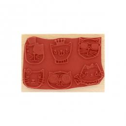 Tampon bois DES CHATS par Florilèges Design. Scrapbooking et loisirs créatifs. Livraison rapide et cadeau dans chaque commande.