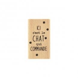 PROMO de  sur Tampon bois C'EST LE CHAT Florilèges Design