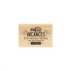 Tampon bois PAUSE AU PARADIS par Florilèges Design. Scrapbooking et loisirs créatifs. Livraison rapide et cadeau dans chaque ...