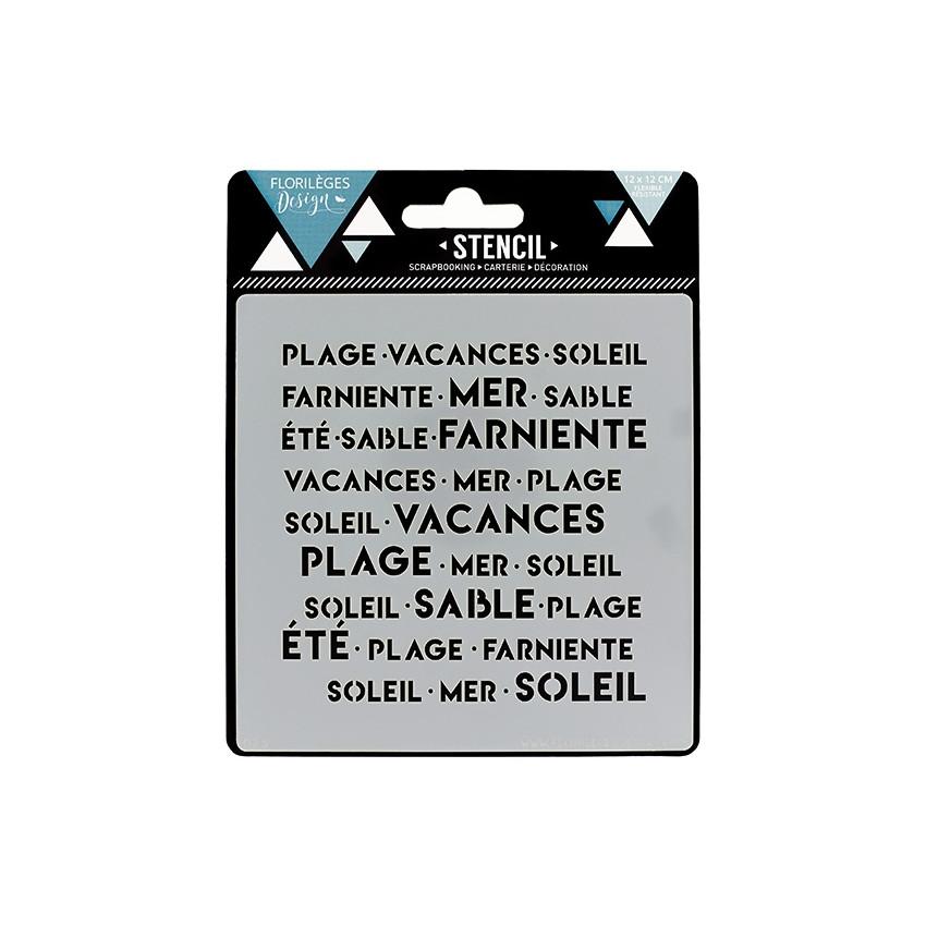 Pochoirs EN VACANCES X3