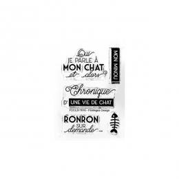 Tampons clear UNE VIE DE CHAT- Capsule Juin 2017 par Florilèges Design. Scrapbooking et loisirs créatifs. Livraison rapide et...