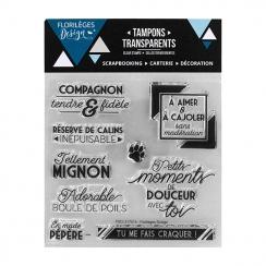 Commandez Tampons clear COMPAGNON FIDÈLE- Capsule Juin 2017 Florilèges Design. Livraison rapide et cadeau dans chaque commande.