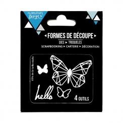 Outils de découpe HELLO BUTTERFLY- Capsule Août 2017 par Florilèges Design. Scrapbooking et loisirs créatifs. Livraison rapid...