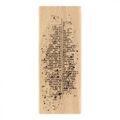 Tampon bois TEXTE MOUCHETÉ par Florilèges Design. Scrapbooking et loisirs créatifs. Livraison rapide et cadeau dans chaque co...