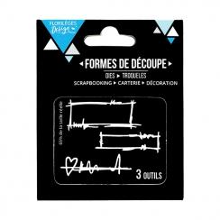 Outils de découpe PETITES ÉTIQUETTES- Capsule Septembre 2017 par Florilèges Design. Scrapbooking et loisirs créatifs. Livrais...