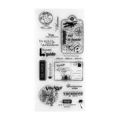Tampons clear VOIR LE MONDE par Florilèges Design. Scrapbooking et loisirs créatifs. Livraison rapide et cadeau dans chaque c...