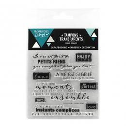 Commandez Tampons clear PETITS RIENS Florilèges Design. Livraison rapide et cadeau dans chaque commande.