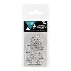 Tampon clear TOUCHE DE TEXTE par Florilèges Design. Scrapbooking et loisirs créatifs. Livraison rapide et cadeau dans chaque ...