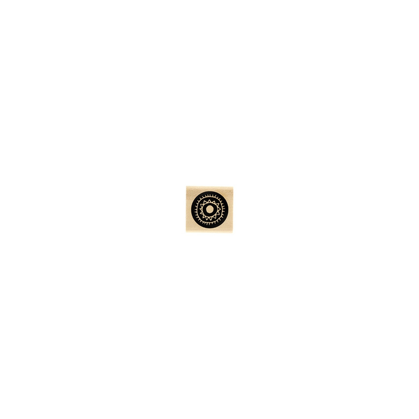 Tampon bois PASTILLE SOLAIRE par Florilèges Design. Scrapbooking et loisirs créatifs. Livraison rapide et cadeau dans chaque ...