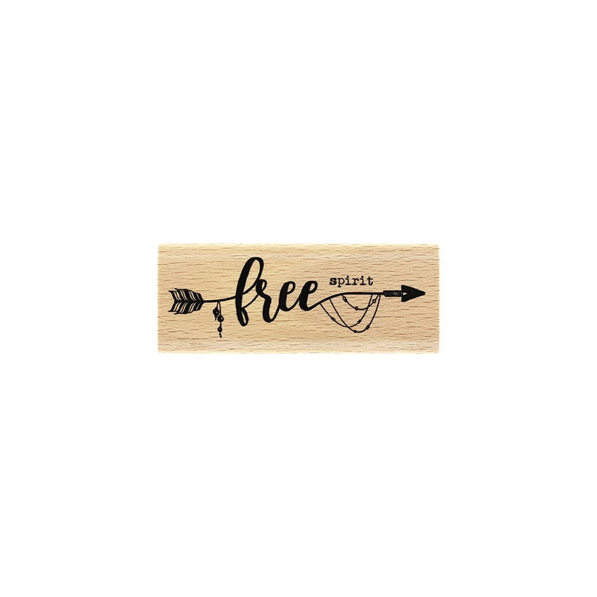 PROMO de  sur Tampon bois FREE SPIRIT Florilèges Design