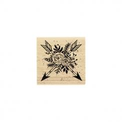 PROMO de -40% sur Tampon bois FLÈCHES EN FLEURS Florilèges Design