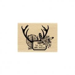 PROMO de -50% sur Tampon bois VIE DES BOIS Florilèges Design