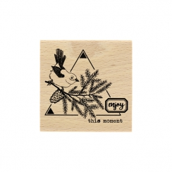 PROMO de -99.99% sur Tampon bois OISEAU DES FORÊTS Florilèges Design
