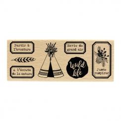 PROMO de -40% sur Tampon bois WILD LIFE Florilèges Design