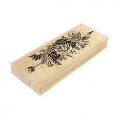Tampon bois Fleurs Et Plumes
