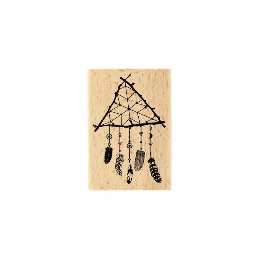 Tampon bois Attrape Rêve Nature
