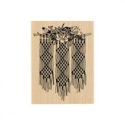 Tampon bois MACRAMÉ FLORAL par Florilèges Design. Scrapbooking et loisirs créatifs. Livraison rapide et cadeau dans chaque co...