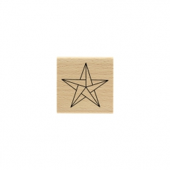 PROMO de -99.99% sur Tampon bois ÉTOILE ORIGAMI Florilèges Design