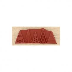Tampon bois SAPINS GRAPHIQUES par Florilèges Design. Scrapbooking et loisirs créatifs. Livraison rapide et cadeau dans chaque...