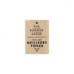 Commandez Tampon bois PAIX ET AMOUR Florilèges Design. Livraison rapide et cadeau dans chaque commande.