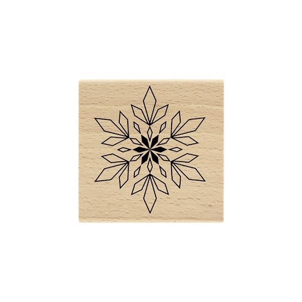 Tampon bois Flocon Géométrique