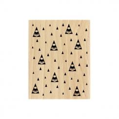 PROMO de -99.99% sur Tampon bois SAPINS STYLISÉS Florilèges Design