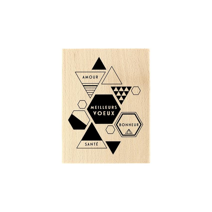 PROMO de -99.99% sur Tampon bois MODERN GREETINGS Florilèges Design