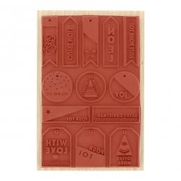 PROMO de -99.99% sur Tampon bois MES PETITES ÉTIQUETTES Florilèges Design