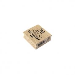 Tampon bois JOLI DÉCEMBRE par Florilèges Design. Scrapbooking et loisirs créatifs. Livraison rapide et cadeau dans chaque com...