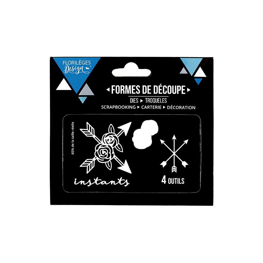 PROMO de -60% sur Outils de découpe INSTANTS FLEURIS Florilèges Design