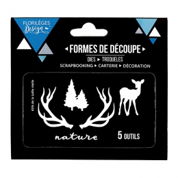 Outils de découpe NATURE ET SAPINS par Florilèges Design. Scrapbooking et loisirs créatifs. Livraison rapide et cadeau dans c...