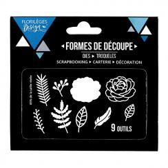 Outils de découpe FLEURS ET FEUILLAGES par Florilèges Design. Scrapbooking et loisirs créatifs. Livraison rapide et cadeau da...
