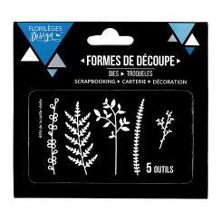 Outils de découpe FEUILLAGES DES BOIS par Florilèges Design. Scrapbooking et loisirs créatifs. Livraison rapide et cadeau dan...