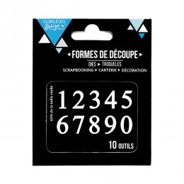 Outils de découpe DES CHIFFRES par Florilèges Design. Scrapbooking et loisirs créatifs. Livraison rapide et cadeau dans chaqu...