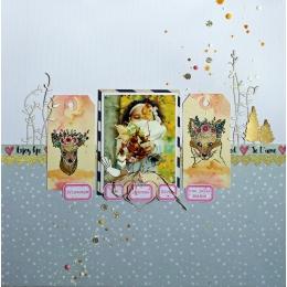 Tampon bois ÉTIQUETTES DES SAISONS par Florilèges Design. Scrapbooking et loisirs créatifs. Livraison rapide et cadeau dans c...