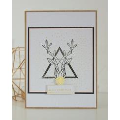 Tampon bois ROI DE LA FORÊT par Florilèges Design. Scrapbooking et loisirs créatifs. Livraison rapide et cadeau dans chaque c...