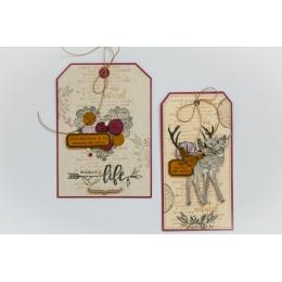 Tampon bois WONDERFUL LIFE par Florilèges Design. Scrapbooking et loisirs créatifs. Livraison rapide et cadeau dans chaque co...