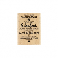 Tampon bois FAÇONNER LE BONHEUR par Florilèges Design. Scrapbooking et loisirs créatifs. Livraison rapide et cadeau dans chaq...