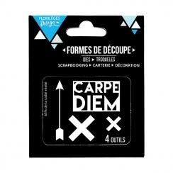 Outils de découpe CARPE DIEM par Florilèges Design. Scrapbooking et loisirs créatifs. Livraison rapide et cadeau dans chaque ...