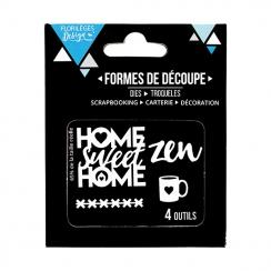 Outils de découpe HOME SWEET HOME par Florilèges Design. Scrapbooking et loisirs créatifs. Livraison rapide et cadeau dans ch...