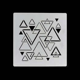 Pochoir TRIANGLES MÊLÉS - capsule Octobre 2017 par Florilèges Design. Scrapbooking et loisirs créatifs. Livraison rapide et c...