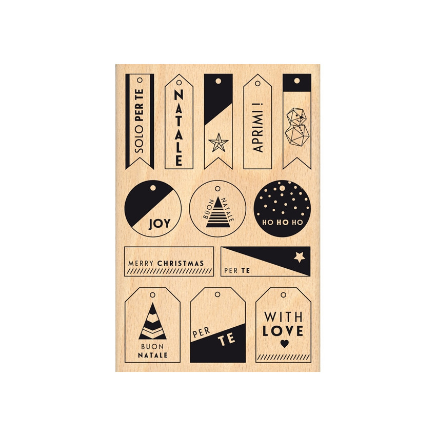 PROMO de -99.99% sur Tampon bois italien PICCOLE ETICHETTE Florilèges Design