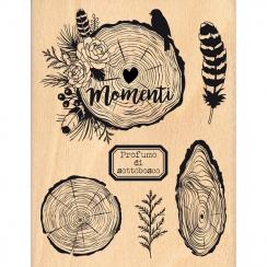 Tampon bois italien PERFUMO DI SOTTOBOSCO par Florilèges Design. Scrapbooking et loisirs créatifs. Livraison rapide et cadeau...