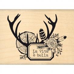 Tampon bois italien VITA NEI BOSCHI par Florilèges Design. Scrapbooking et loisirs créatifs. Livraison rapide et cadeau dans ...