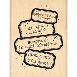 Tampon bois italien APPROFITTARE DAVVERO par Florilèges Design. Scrapbooking et loisirs créatifs. Livraison rapide et cadeau ...